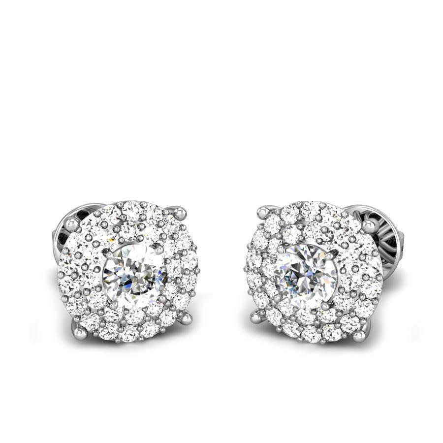 c6368d531 Glimmer Solitaire Diamond Earrings Online Jewellery Shopping India ...