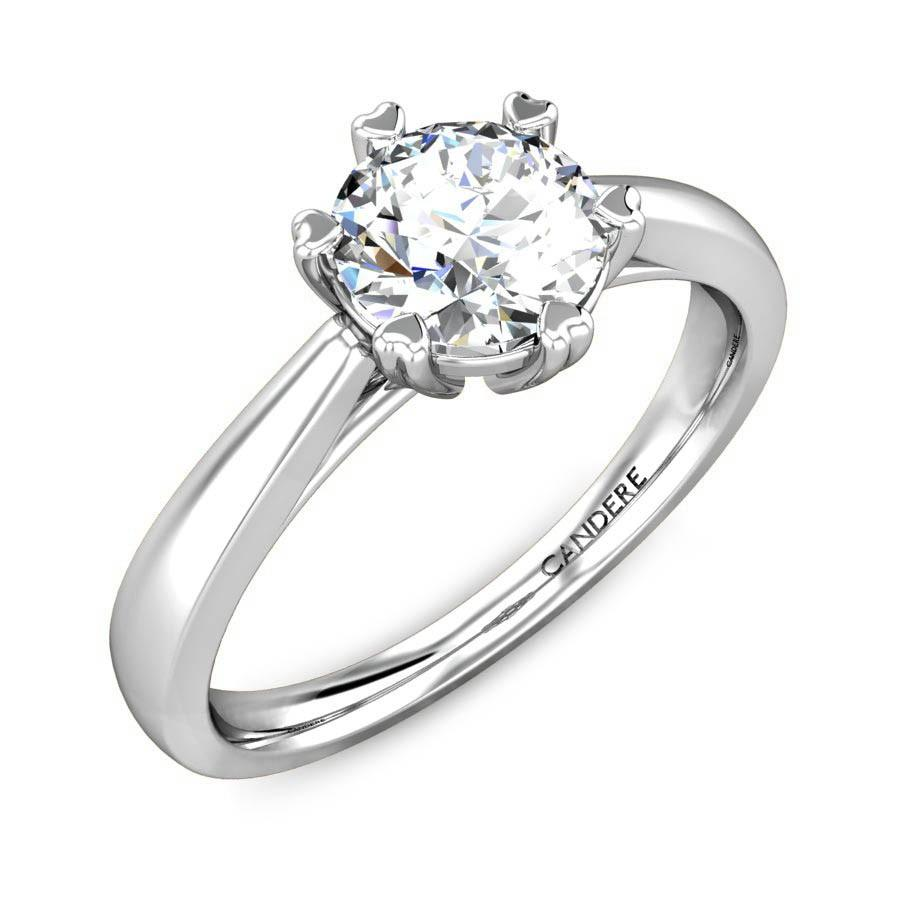 Heron Solitaire Diamond Ring
