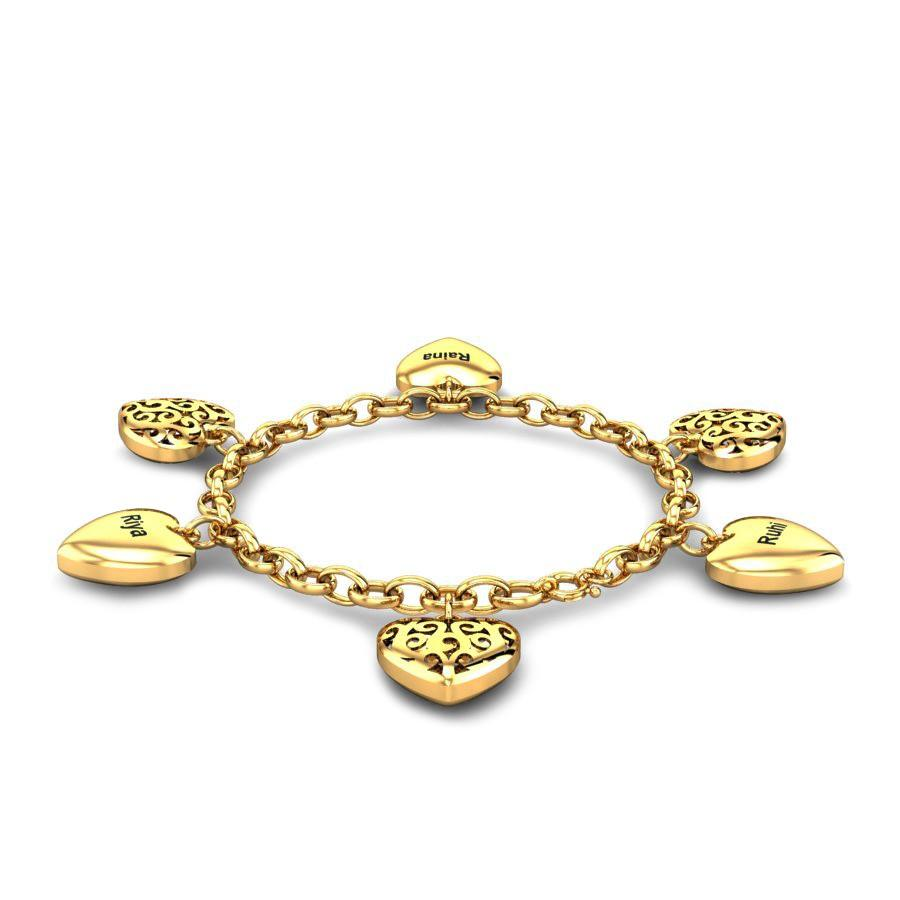 40276fe1e63 Queen Of Hearts Gold Bracelet Online Jewellery Shopping India ...