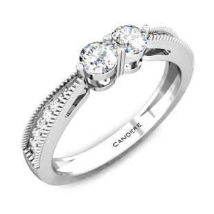 Serendipity Duet Solitaire Diamond Ring