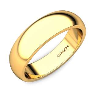 Miranda Gold Wedding Band For Her